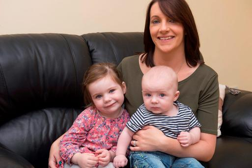 Anne Marie Murphy with her children Lilly Anne and Rian
