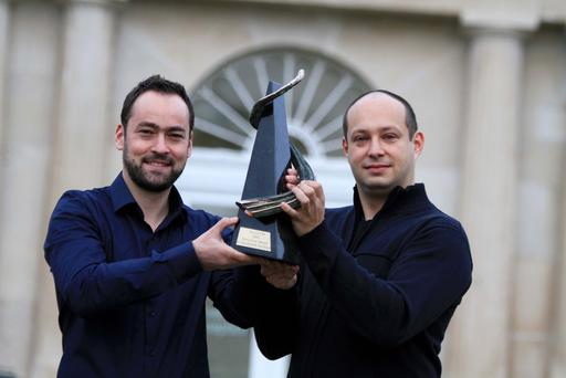 Pictured at NovaUCD, the Centre for New Ventures and Entrepreneurs at University College Dublin, are Dr Trevor Parsons and Dr Viliam Holub, co-founders of Logentries. Picture: Nick Bradshaw