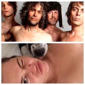 Miley Cyrus and the Flaming Lips are planning a naked show. PIC: Wayne Coyne Instagram