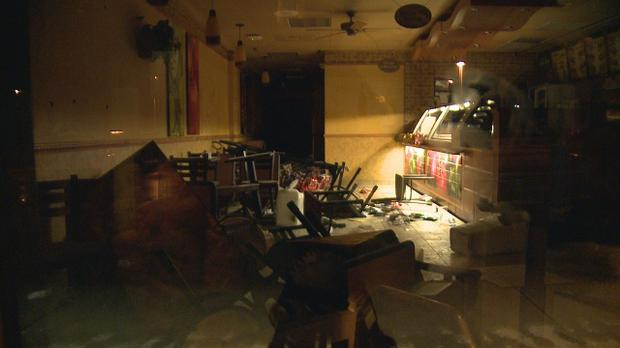 The scene at the restaurant after the woman caused a lot of damage Credit: missopen.com