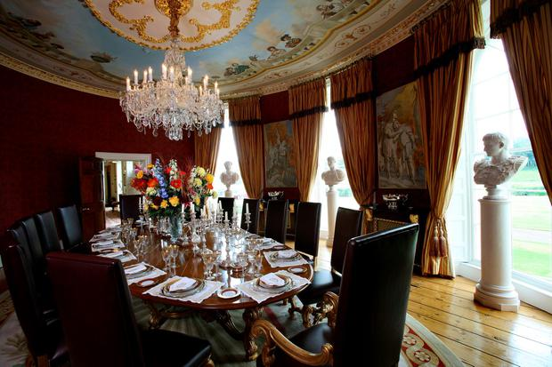 Michael Flatley favourite room in Castlehyde, Co. Cork. Oval dining room. Photo: Tony Gavin 29/6/10
