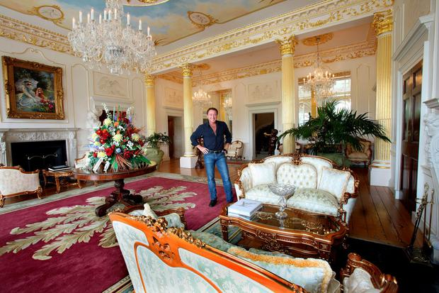 Michael Flatley favourite room in Castlehyde, Co. Cork. Reception hall. Photo: Tony Gavin 29/6/10