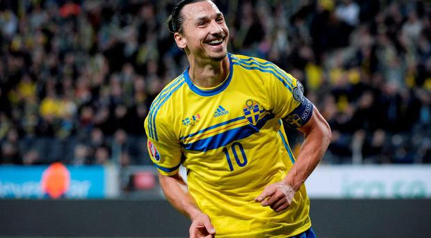 Sweden's Zlatan Ibrahimovic is probably the most high profile player Ireland could face