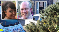Siobhan Phillips (inset, left) and Garda Tony Golden (inset, right) and the scene of the tragedy