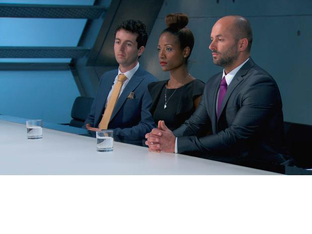 April took Dan and Brett back in to the boardroom with her
