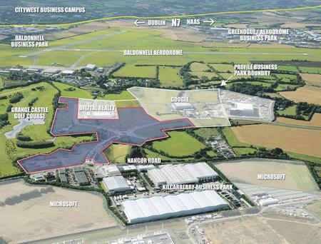 CBRE is selling these 40.74 acres at Profile Business Park in west Dublin.