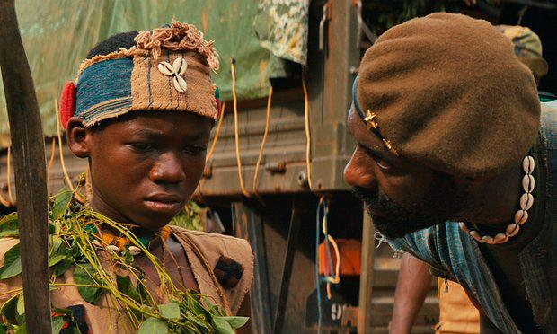 Idris Elba with Abraham Attah in Beasts of No Nation. PIC: Netflix