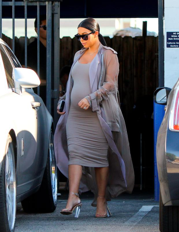 Kim Kardashian is heavily pregnant
