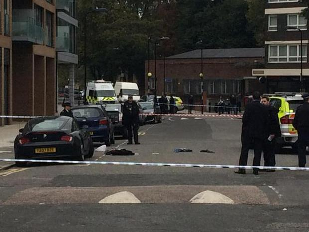 Residents on Haggerston Road reported that they could hear shoots Credit: Joel Gunter