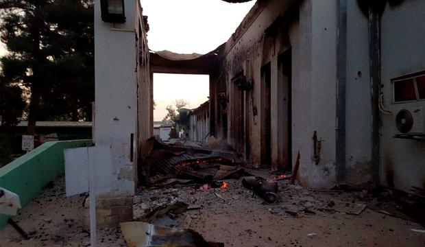 The charred remains of the Medecins Sans Frontieres hospital is seen after being hit by a U.S. airstrike, in Kunduz, Afghanistan. (Medecins Sans Frontieres via AP, File)