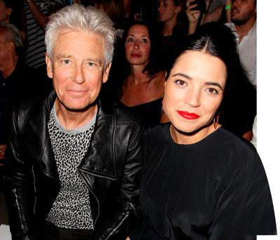 U2 bassist Adam Clayton and his wife Mariana Teixeira