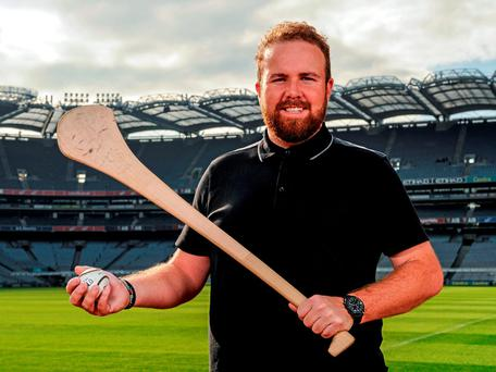 Golfer Shane Lowry helped launch the 'Faithful Fields' Centre of Excellence project for Offaly in Croke Park yesterday