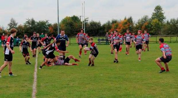 The Mullingar U-16s in action in the Leinster League
