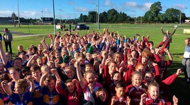 Almost 200 boys and girls of schools in the Mullingar area came together to participate in a rugby blitz held in the local rugby club