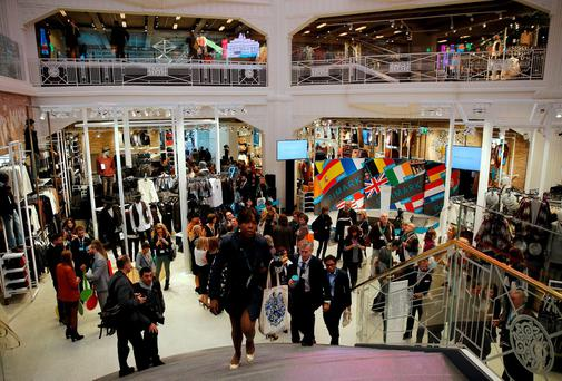 People visit Primark's new Spanish flagship store in Madrid, Spain. Reuters/Andrea Comas