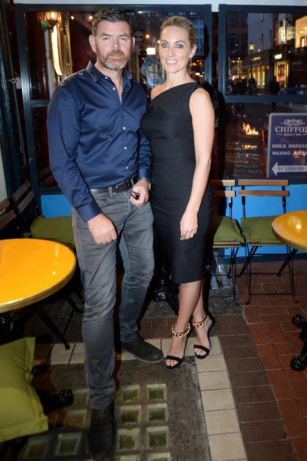 Kathryn Thomas and Padraig McLoughlin the launch of Catch 22 restaurant on South Anne Street Dublin. Picture: Justin Farrelly.