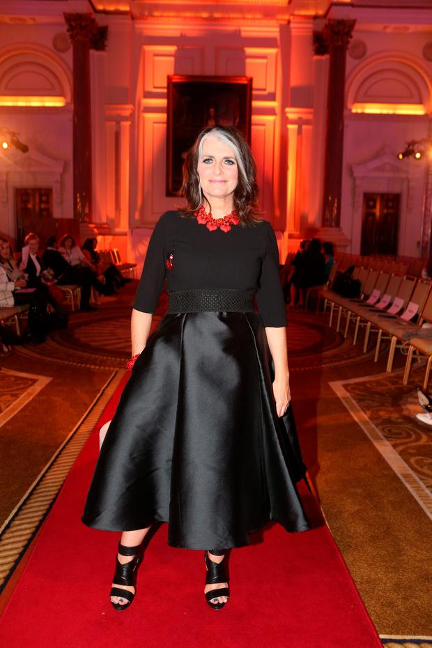 Cathy O'Connor pictured at the Arthur Cox Irish Fashion Event 2015 in the Westin Hotel, Dublin