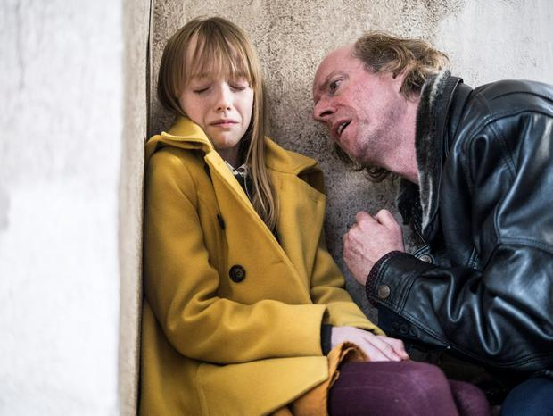 Clean Break Episode Four L-R: Amybeth McNulty as Jenny Rane and Ned Dennehy as Noel Blake RTÉ One