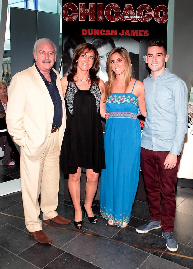 Family man: Marty Whelan loves spending time with his wife Maria and children Jessica and Tom. Photo: Brian McEvoy