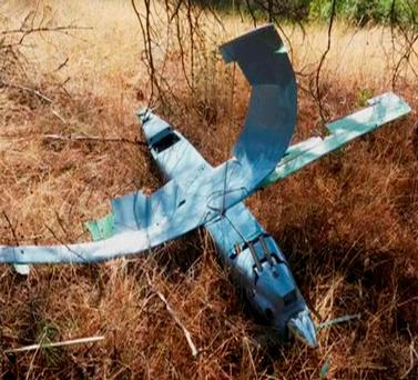 The drone shot down by Turkish aircraft