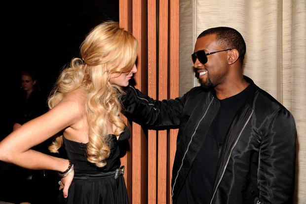 Actress Lindsay Lohan (L) and Kanye West pictured together in 2011
