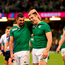 Rob Kearney and Tommy Bowe celebrate after last Sunday's win over France in the Millennium Stadium