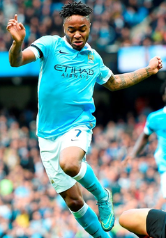 Raheem Sterling scored a hat-trick for City