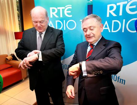 JACKANORY, JACKANORY: Michael Noonan's and Brendan Howlin's pre-election splurge is based on hopelessly optimistic predictions of the growth rate