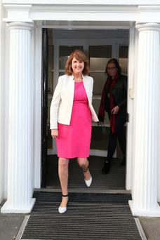 WINNING: Joan Burton has got her way by holding firm in her opposition to a November election and targeting lower and middle-income earners with tax cuts in the Budget