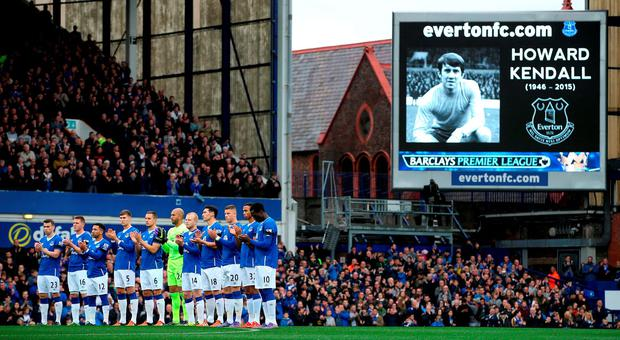 Minutes applause for the late Howard Kendall