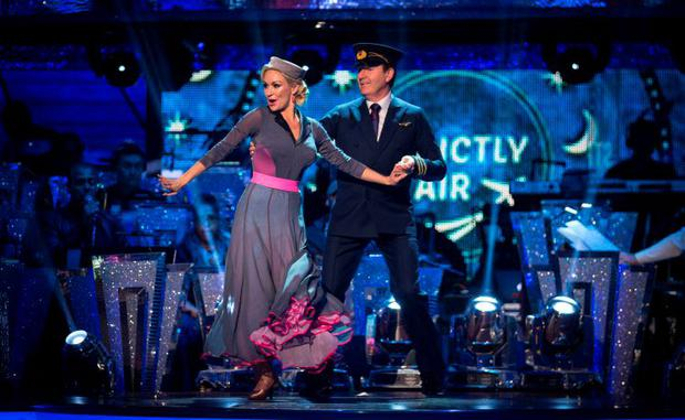 Daniel o'Donnell and Kristina Rihanoff perform a foxtrot last night on Strictly Come Dancing. Photo: BBC