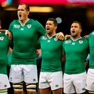 Ireland players sing Ireland's Call
