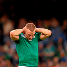 Ian Madigan following his side's defeat. 2015 Rugby World Cup Quarter-Final, Ireland v Argentina. Millennium Stadium, Cardiff, Wales. Picture credit: Stephen McCarthy / SPORTSFILE