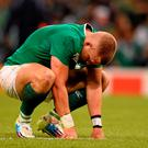 18 October 2015; Ian Madigan, Ireland, following his side's defeat. 2015 Rugby World Cup Quarter-Final, Ireland v Argentina. Millennium Stadium, Cardiff, Wales. Picture credit: Stephen McCarthy / SPORTSFILE