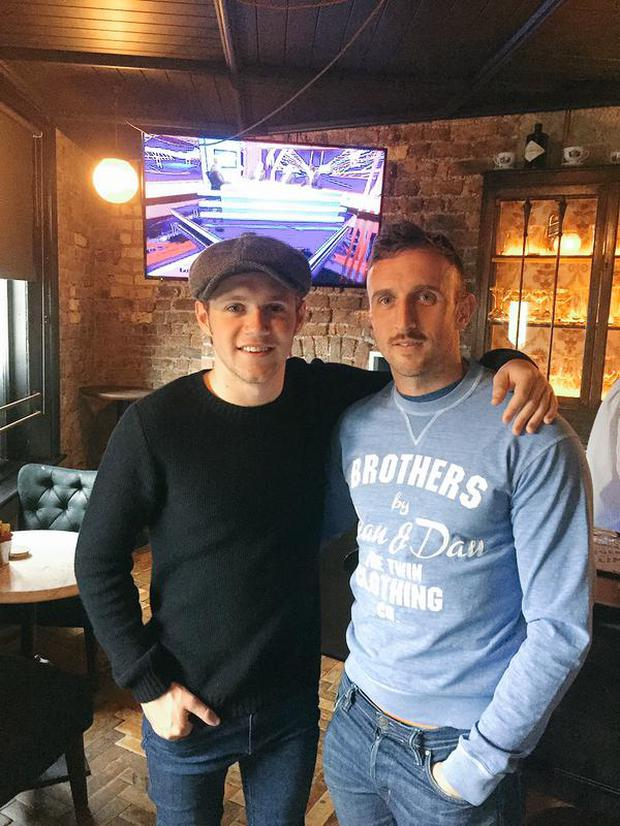 Niall watched the match in The Bridge in Ballsbridge