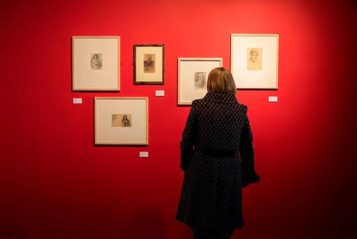 At the opening of 'Yeats & Son', an exhibtion of works by John and Jack Butler Yeats touring the country for the first time, at Wexford Arts Centre yesterday. Picture: Patrick Browne