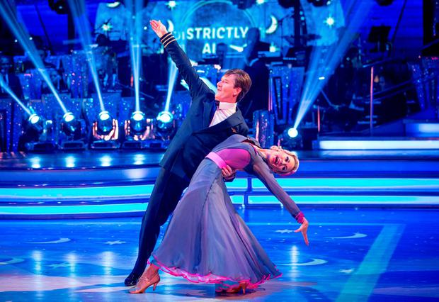 Daniel O'Donnell and his dance partner Kristina Rihanoff. Photo: Guy Levy/BBC/PA Wire