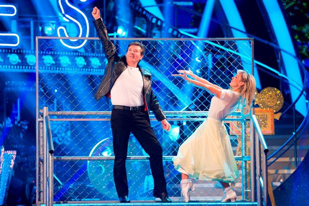Kristina Rihanoff and her dance partner Daniel O'Donnell during a dress rehearsal. Photo: Guy Levy/BBC/PA Wire