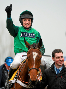 Barry Geraghty (pictured) flew to New Jersey for a fleeting visit on Saturday to partner Gordon Elliott's Eshtiaal but was foiled by his brother Ross