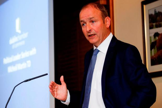 Micheál Martin: prepared for coalition with smaller parties