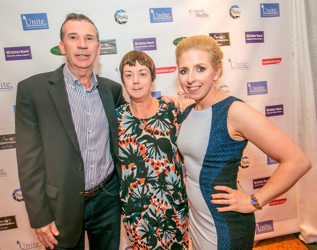 Jim and Patricia Walsh, the parents of Eimear who the event was held in memory of, with organiser Linda Somers during the UNITE for Berkeley Red Carpet Fashion event in Lyrath Estate Hotel in Kilkenny city. Photo: Pat Moore.