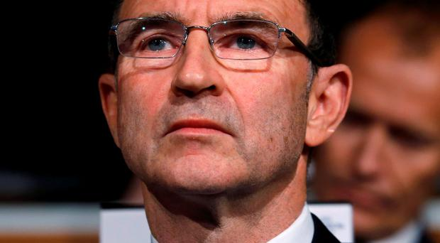 Ireland's coach Martin O'Neill looks on during the draw