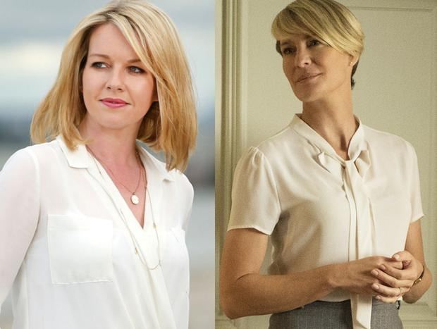Claire Byrne (left) and Claire Underwood (right)
