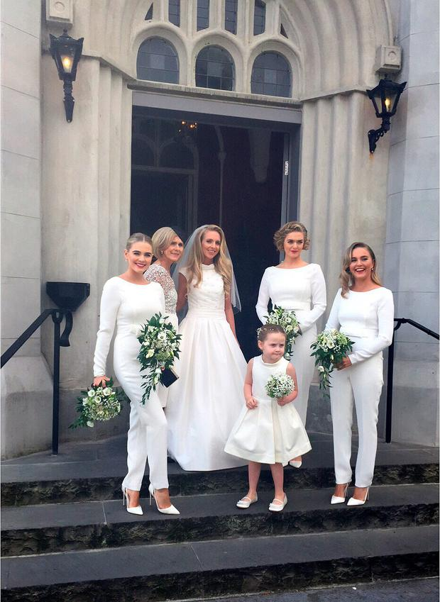 Irish bride Naoimh with her beautiful bridal party. Picture: Chimene O'Reilly