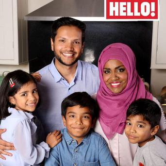 Nadiya and her family appeared in Hello! Magazine