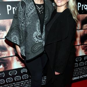 Catriona O Connor and Danielle McGarry at the Irish Premiere screening of Irish thriller The Hit Producer at Movies in Dundrum Dublin Picture Brian McEvoy No repro fee for one use