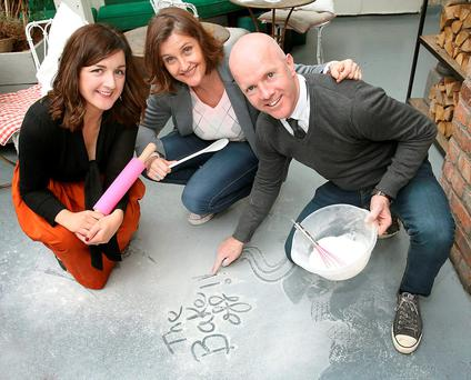 Lilly Higgins-,Anna Nolan and Paul Kelly of The Great Irish Bake Off on Tv3. Picture Brian McEvoy