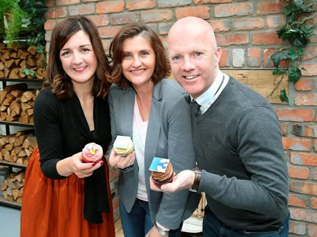 Lilly Higgins-,Anna Nolan and Paul Kelly of The Great Irish Bake Off on Tv3 Picture Brian McEvoy