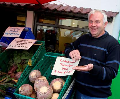 Paddy Reville from the Green Corner in Wexford said customers were supportive of the 'rounding' trial run two years ago