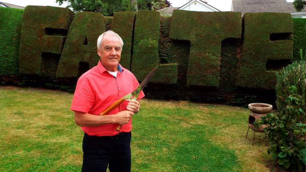Topiary artist Colm Hughes is featured in the new films